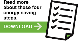 Read more about these four energy saving steps. | DOWNLOAD