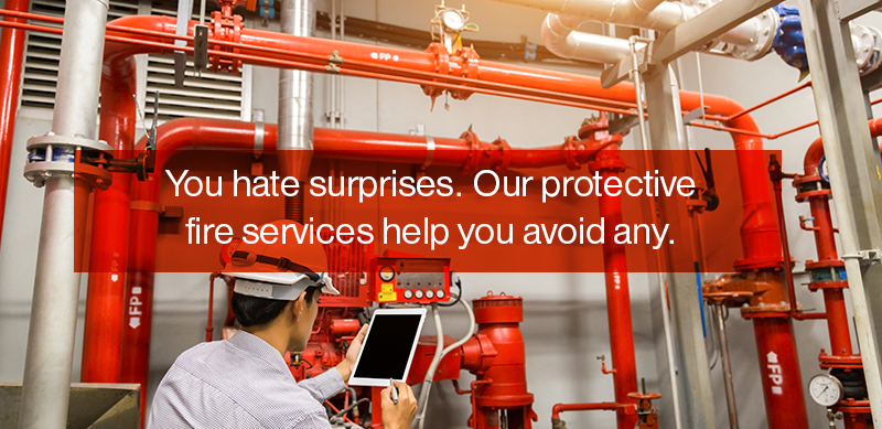 You hate surprises. Our protective fire services help you avoid any.